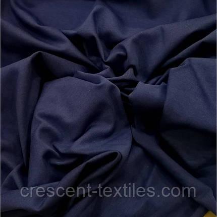 Трикотаж Хлопок  Кулир (Темно-Синий), фото 2