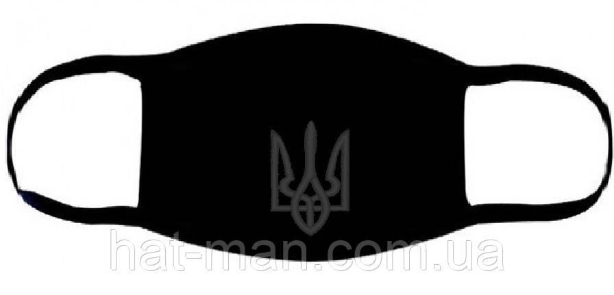 Маска з вишивкою чорного Тризуба
