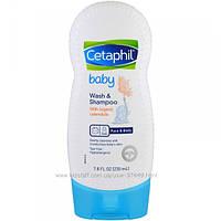 Cetaphil, Baby, средство для купания и мытья волос с календулой органического происхождения, 230 мл (7,8 унции