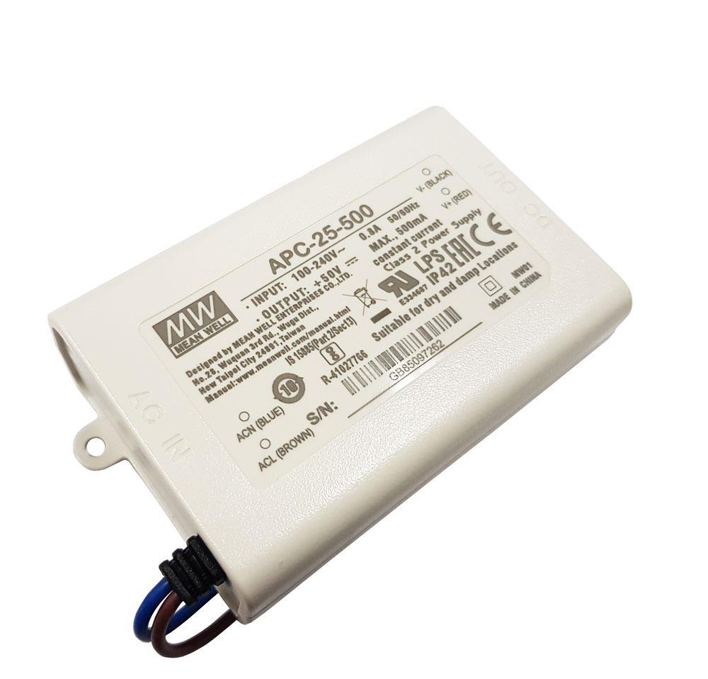 Блок живлення  драйвер світлодіода 500 мА 15-50в 25Вт APC-25-500 MEAN WELL 4581о