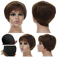 Парик из натуральных волос Silvia HH темно-русого цвета
