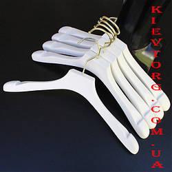 Вешалки плечики тремпеля для верхней одежды белые акриловые, 40 см