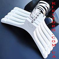 Детские вешалки плечики тремпеля для верхней одежды, платьев, трикотажа, курток, белые Лофт, 32 см