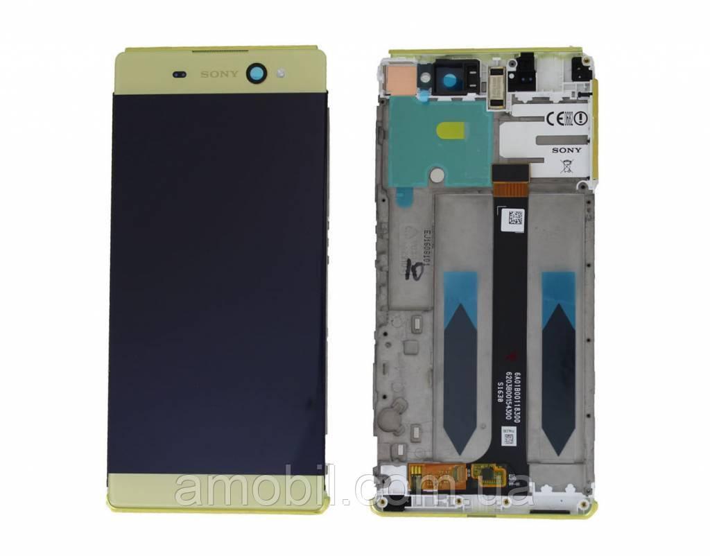 Дисплей + Сенсор с рамкой Sony Xperia XA Ultra F3211 / F3212 / F3213 / F3215 / F3216 lime gold orig