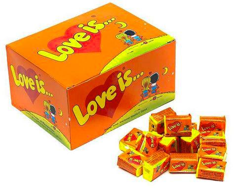 """Жвачка Love is — """"Блок жвачек Love is — """"Апельсин-Ананас"""" (блок 100 шт.)"""