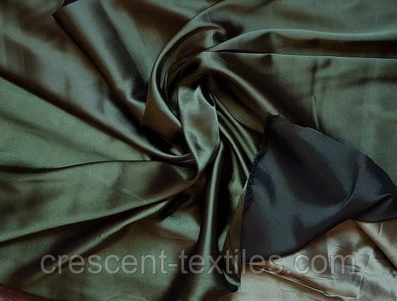 Розпродаж/уцінка Атлас Стрейч Щільний Темно-Зелений, фото 2