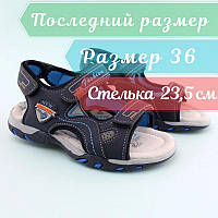 Спортивные сандалии синие мальчику Том.м размер 36, фото 1
