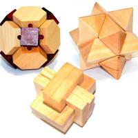 Набор трех деревянных головоломок