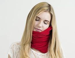 Подушка-шарф для путешествий Travel Pillow Supretto Красная (5071-0001)