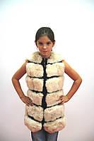 Меховой жилет на девочку-подростка 38 размер  от производителя, фото 1