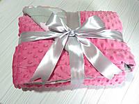 Детский плюшевый плед (одеяло для младенцев) Minky для девочки с утеплителем 75*100 см