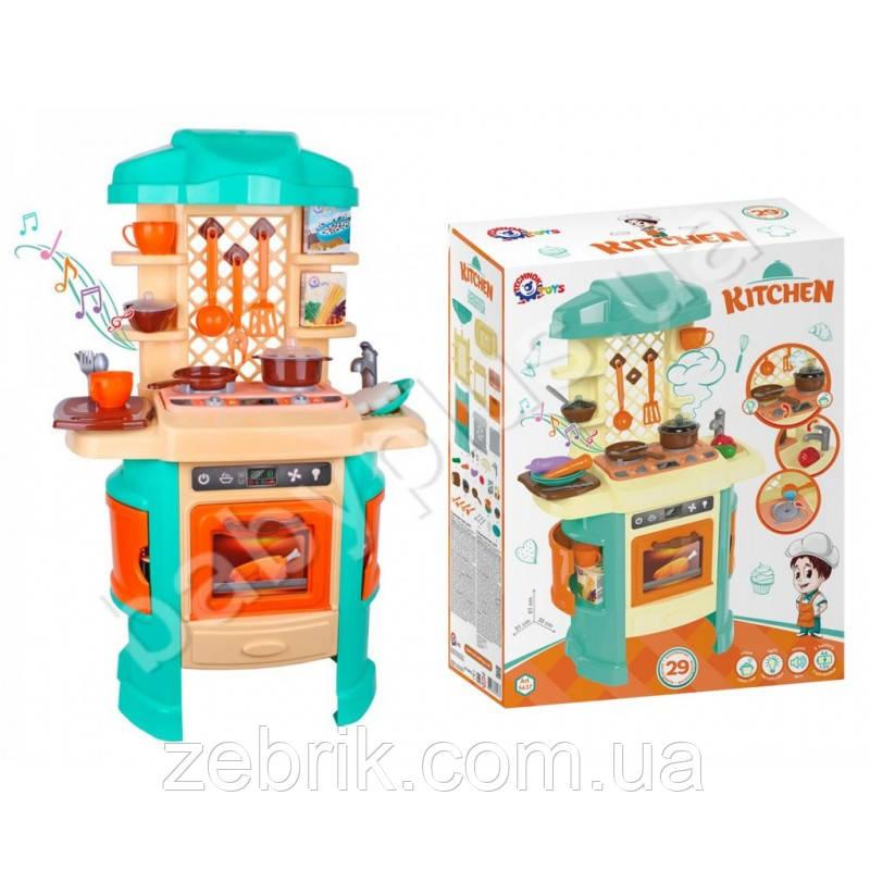 Кухня игрушечная с подсветкой, звуковым эффектом и паром технок 5637