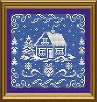Схема для вышивки бисером Новорічна листівка. Арт. СКМ-46