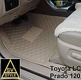 Авто Коврики Toyota Prado 120 с Багажником Кожаные 3D (2002-2009) Тойота Прадо 120 Тюнинг, фото 9