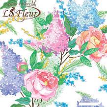 Салфетка ТМ La Fleur 33*33, 2 шари, 20 шт Бузкова ніжність  (4820164967942)
