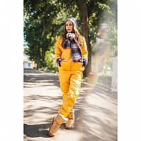 Костюм зимний женский Теплота нью 1 желтый,костюм утепленный женский