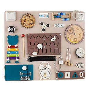 Бизиборд BrainUp Smart Busy Board настольная развивающая игра доска из 25 деталей M50 * 60 см (6004_1)