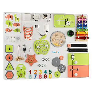 Бизиборд BrainUp Smart Busy Board настольная развивающая игра доска с 35 деталей XL60 * 80см (6006_1)