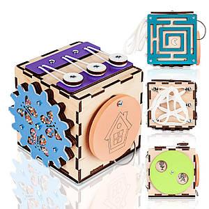 Бизикуб BrainUp Smart Busy Cube настольная развивающая игра кубик с 6 деталей 10 * 10 см (6007_1)