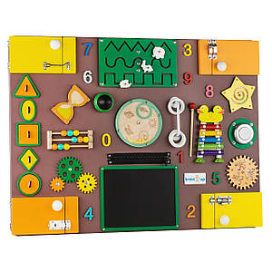 Бизиборд BrainUp Smart Busy Board настольная развивающая игра доска с 35 деталей XL60 * 80см (6006_2)