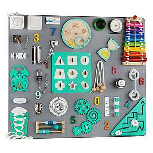 Бизиборд BrainUp Smart Busy Board настольная развивающая игра доска из 30 деталей L60 * 70 см (6005_3)