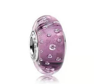 """Шарм бусина Pandora (Пандора) """"Муранское стекло розовые капли"""""""