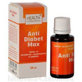 Anti Diabet Max - капли от диабета от HEALTH collection (Анти Диабет Макс), 30 мл