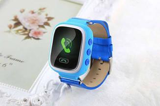 """Детские умные GPS часы Smart Baby Watch Q60 с трекером отслеживания цветной экран 1 """"(синие)"""