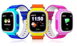 """Детские умные GPS часы Smart Baby Watch Q60 с трекером Отслеживание цветной экран 1 """"(оранжевые)"""