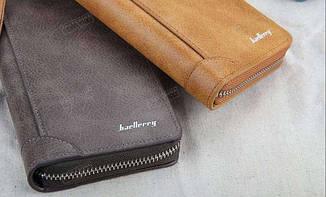 Стильный мужской клатч портмоне BAELLERRY замшевая версия темно-коричневого цвета