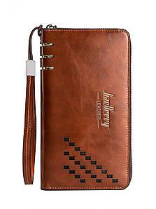 Мужское портмоне Baellerry Leather Коричневый
