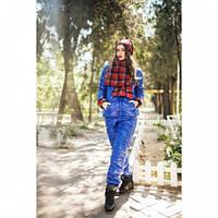 Костюм зимний женский Теплота нью 1 синий,костюм утепленный женский