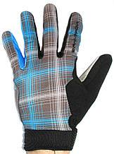 Велоперчатки NORTHWAVE L Черно-синий (C89122009 CHEQUERED BLUE L)