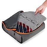 Набор органайзеров для путешествий Bagsmart Серый с оранжевым (FBBM0104087AN008BS), фото 5