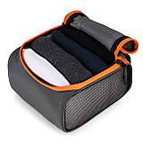 Набор органайзеров для путешествий Bagsmart Серый с оранжевым (FBBM0104087AN008BS), фото 6