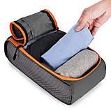 Набор органайзеров для путешествий Bagsmart Серый с оранжевым (FBBM0104087AN008BS), фото 7