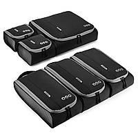Набор органайзеров для путешествий Bagsmart Черный с серым (FBBM0104087AN028BS)
