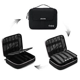 Органайзер для электроники Bagsmart Черный с серым (FBBM0200084A028BS)