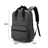 Рюкзак для ноутбука Bagsmart Altadena Черный (FB0140004A001BS), фото 2