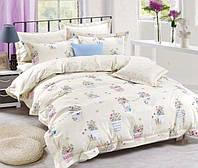 Подростковое постельное белье полуторное 145х215 см Сатин CottonTwill Цветочные горшки Белый