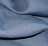 Льняное постельное бельё Евро 220х240 см CottonTwill Темно-синий, фото 4