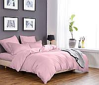Евро постельное белье 200х220 см Сатин CottonTwill Однотонный Светло-розовый