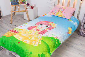 Детское покрывало CottonTwill Сказочная поляна 145x205 см + наволочка 50x70 см