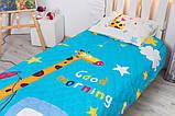 Детское покрывало CottonTwill Доброе утро 145x205 см + наволочка 50x70 см, фото 3