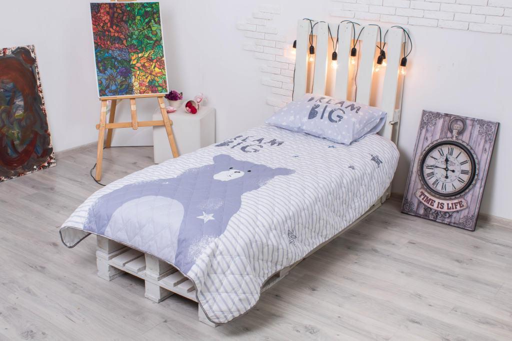Детское покрывало CottonTwill Большая мечта 145x205 см + наволочка 50x70 см
