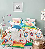 Двуспальные комплекты постельного белья  175х215 см мако-сатин CottonTwill Алиса Разноцветный