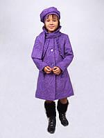 Пальто для девочки  кашемир c беретом  м-968-1018 рост 116-140 , фото 1