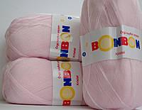 Пряжа Kristal BonBon акрил 100% нежно розовый