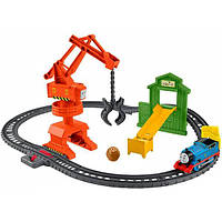 Fisher-Price железная дорога Томас кран GHK83 TrackMaster Thomas & Friends Cassia Crane Cargo Train Set, фото 1