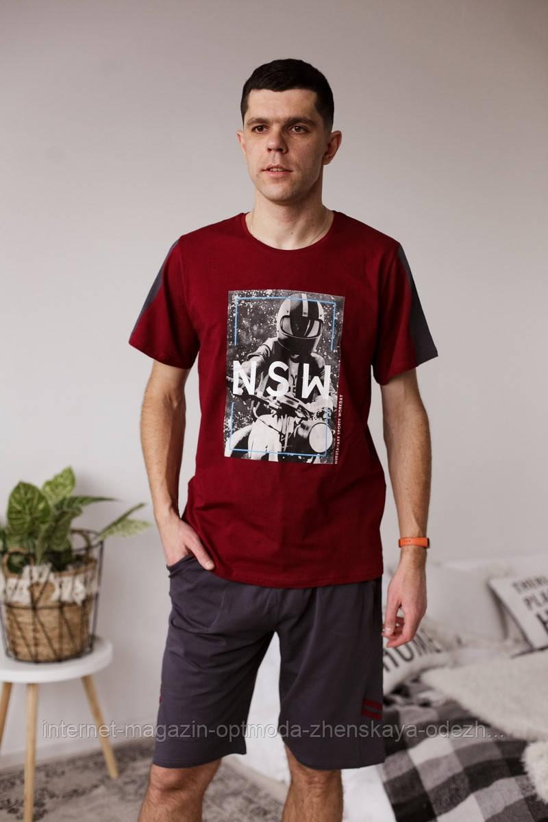 """Класний чоловічий комплект футболка і капрі """"Алан"""""""